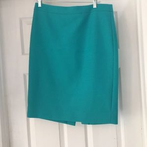 Teal J Crew No 2 Pencil Skirt